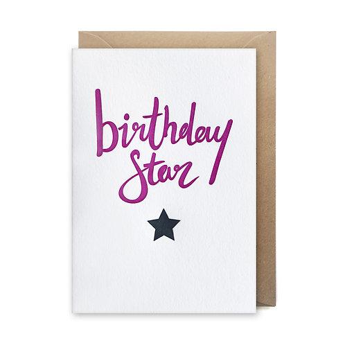 Birthday star: Birthday card
