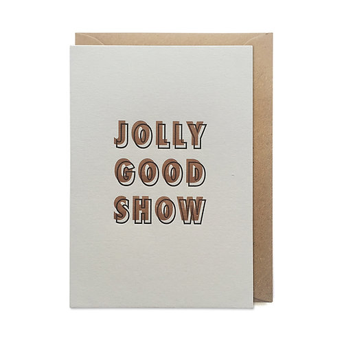 Jolly good show: Congratulations card