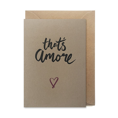 That's amore: Valentines card