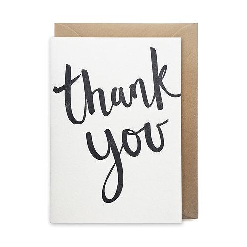 Thank you script: Thank you card
