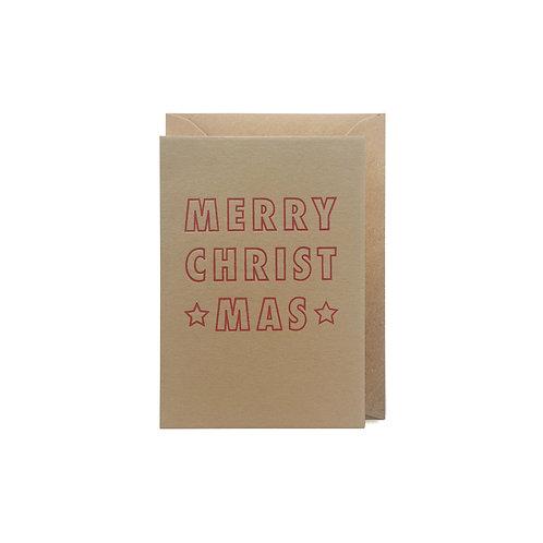 Merry Christmas: Small christmas card
