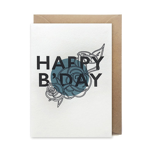 Happy b'day: Birthday card
