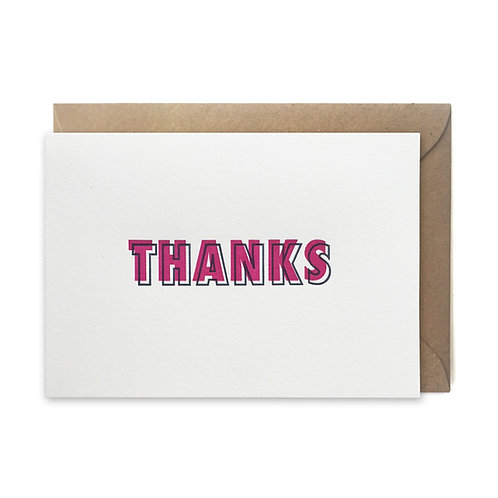 Thanks: Thank you card