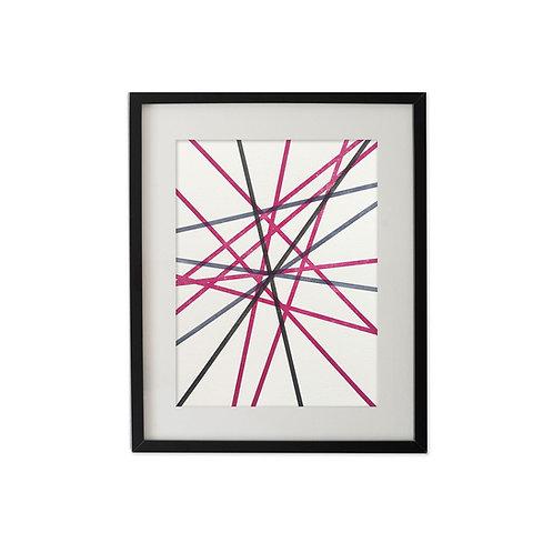 Multi stripes no.1: Art print
