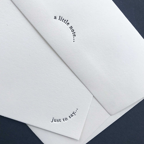 A little note: 8 Notecards