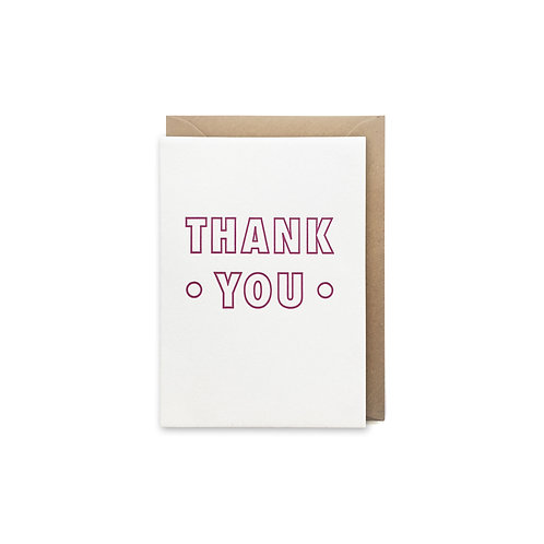 Thank you: Small thank you card