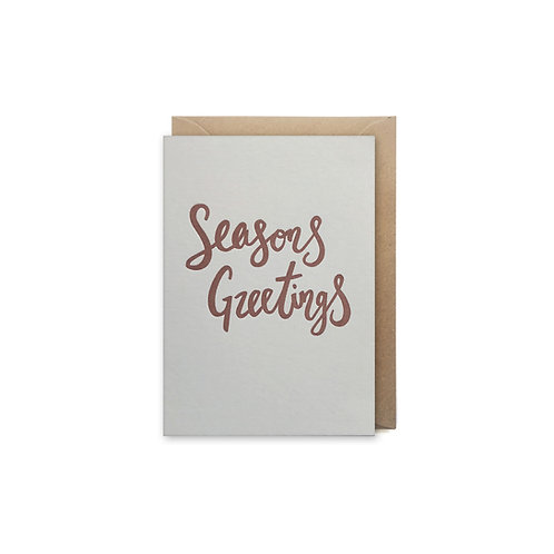 Seasons greetings: Small christmas card