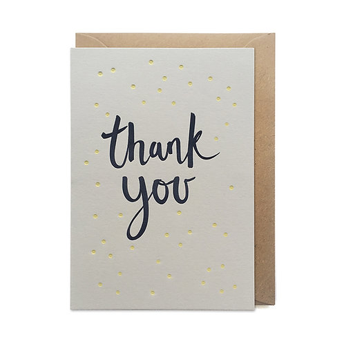 Polka dot thank you: Thank you card