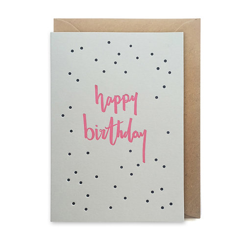 Happy Birthday dots: Birthday card