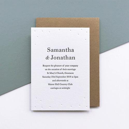 Somerton: Wedding invitation