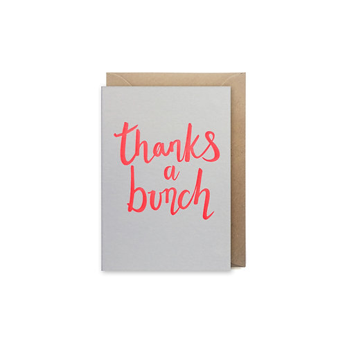 Thanks a bunch: Small thank you card