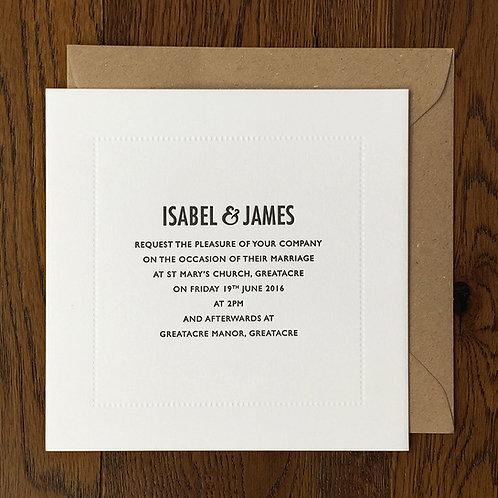 Melbury: Wedding invitation
