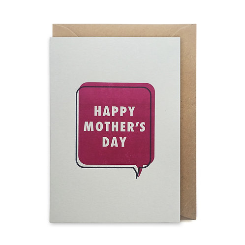 Happy mother's day speech bubble: Mother's day card