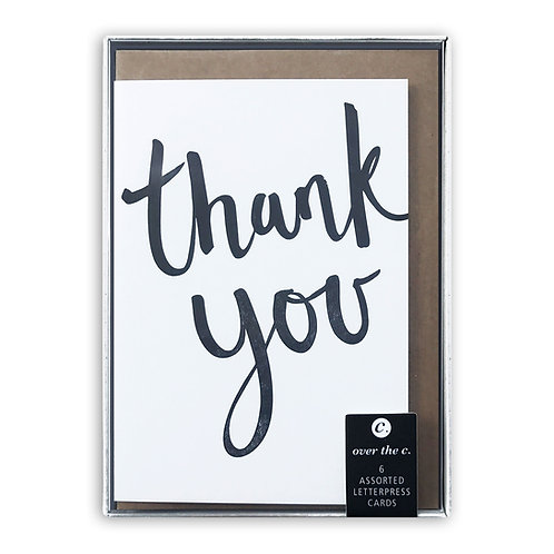 6 assorted thank you cards: Box set