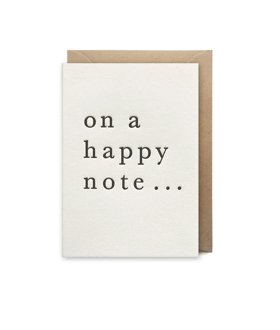 On a happy note small card: Love & friendship card