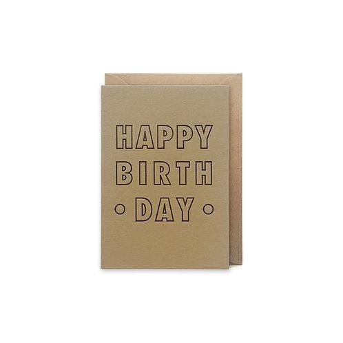 Happy birthday: Small birthday card