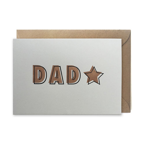 DAD star: Father's day card