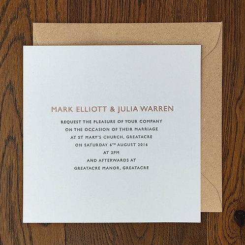 Elmore: Wedding invitation