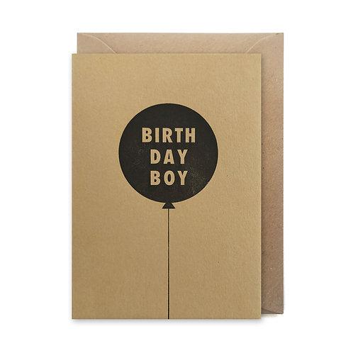 Birthday boy: Birthday card