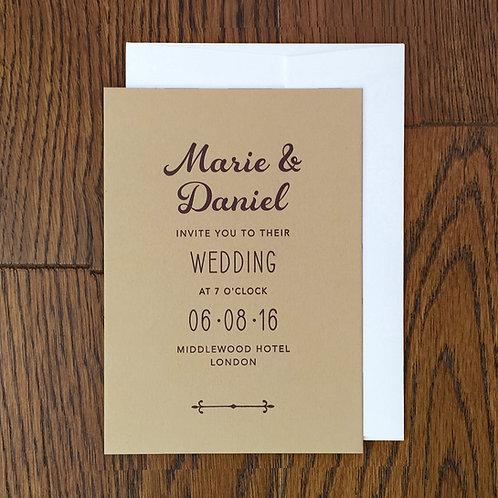 Alba: Wedding invitation