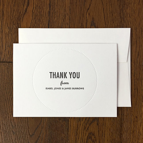 Melbury: Thank you card