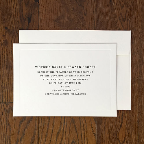 Belfor: Wedding invitation
