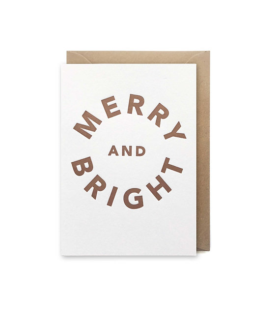 Merry & bright small card: Christmas card