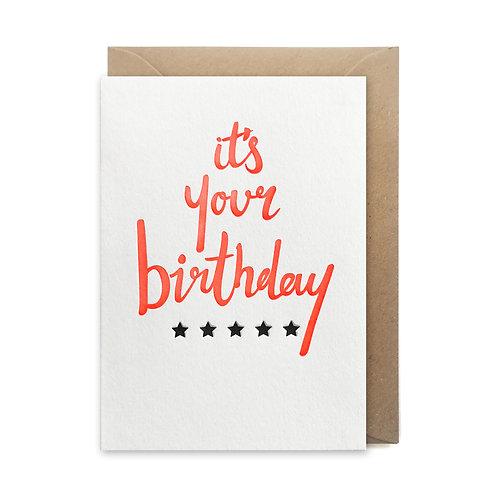 It's your birthday: Birthday card