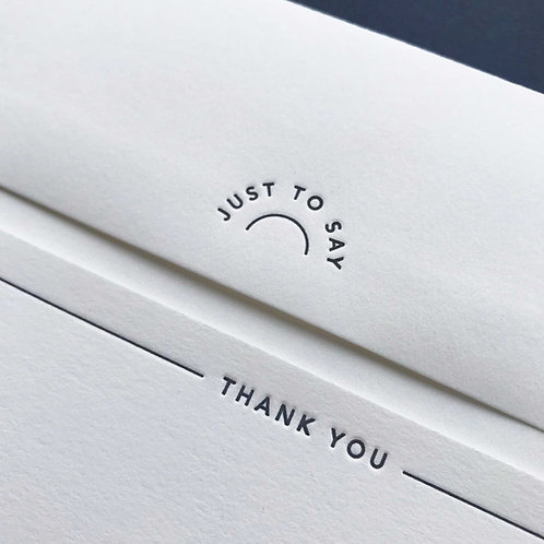 Thank you: 8 Notecards