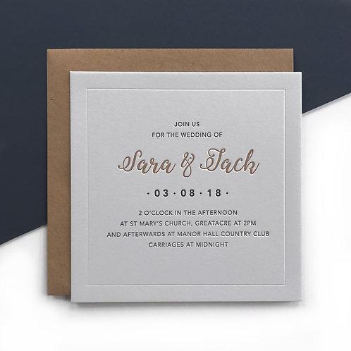 Immy: Wedding invitation grey