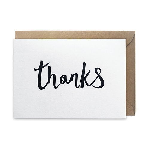Thanks script: Thank you card