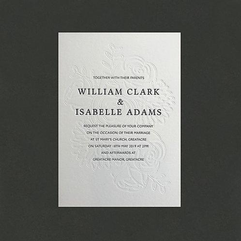 Fleur: Wedding invitation