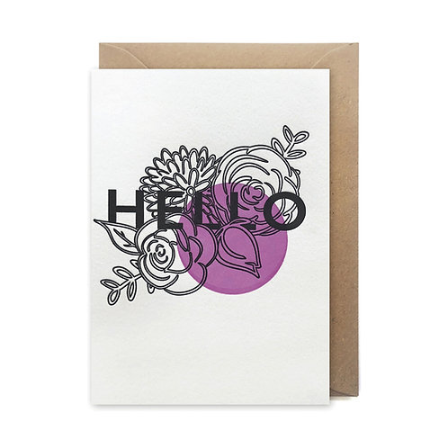 Hello: Love and friendship card