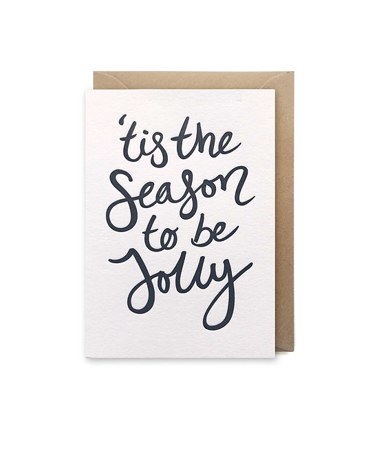 'Tis the season to be jolly small card: Christmas card