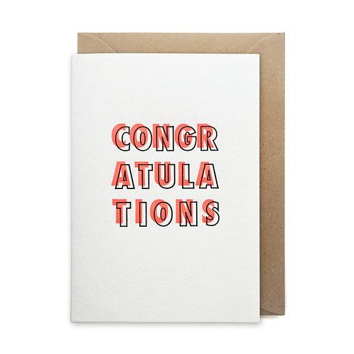 Neon congratulations: Congratulations card