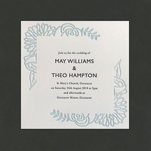 Botanica: Wedding invitation white