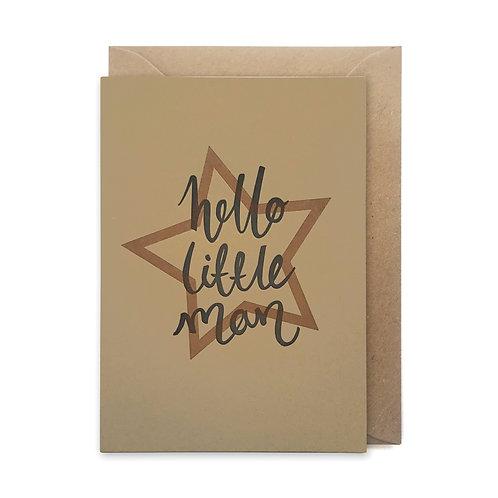 Hello little man card: Congratulations card