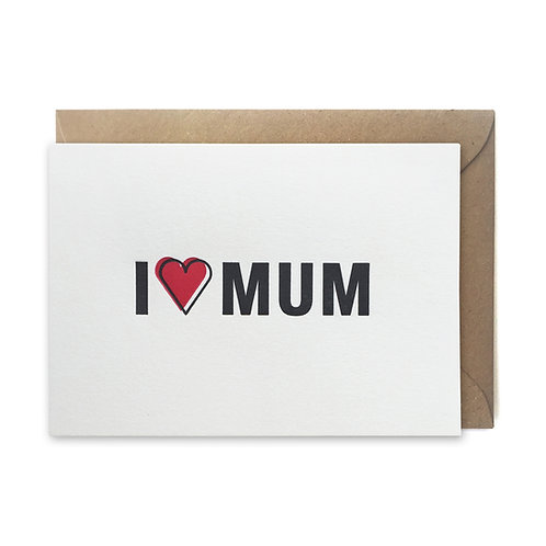 I love mum: Mother's day card