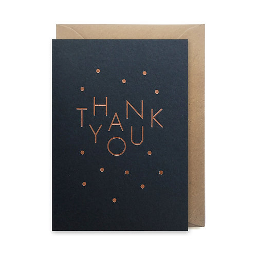 Thank you spots: Thank you card