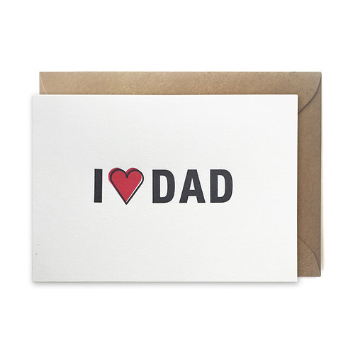 I love dad: Father's day card