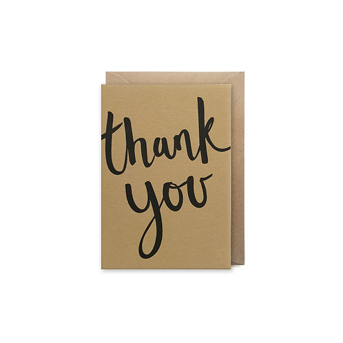 Thank you script: Small thank you card