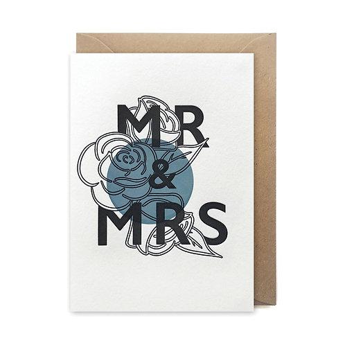 Mr & Mrs: Wedding card