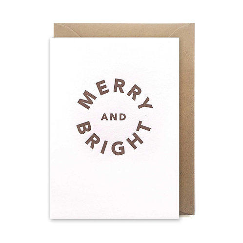 Merry & bright  card: Christmas card