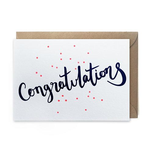 Congratulations script: Congratulations card