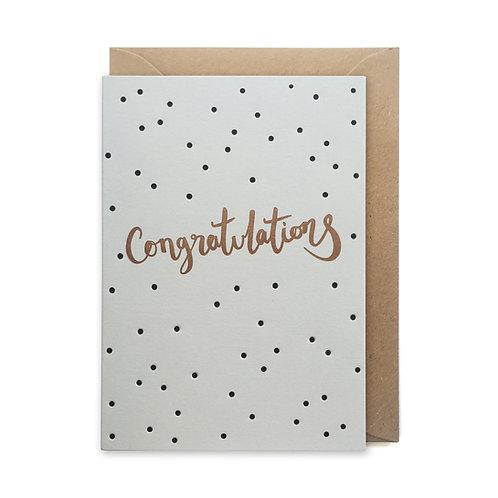 Polka dot congratulations: Congratulations cards