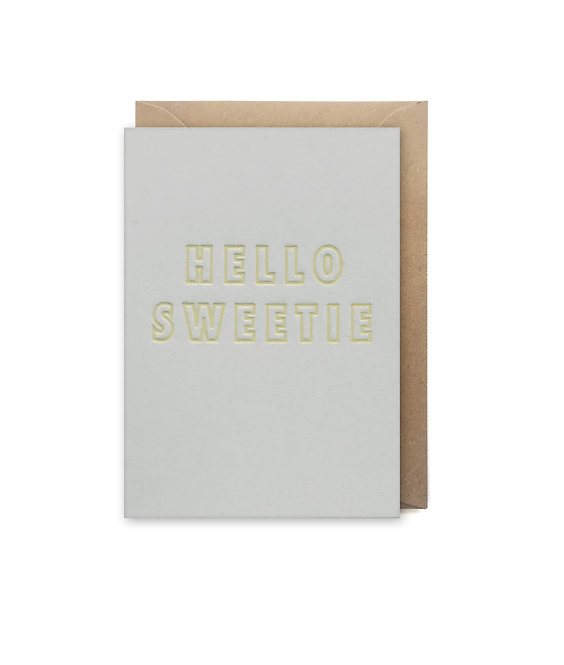 Hello sweetie small card: Love & friendship card