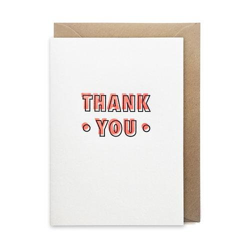 Neon thank you card: Thank you card