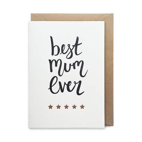 Best mum ever: Mother's day card