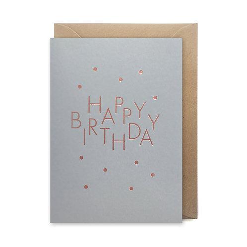 Happy Birthday spots: Birthday card