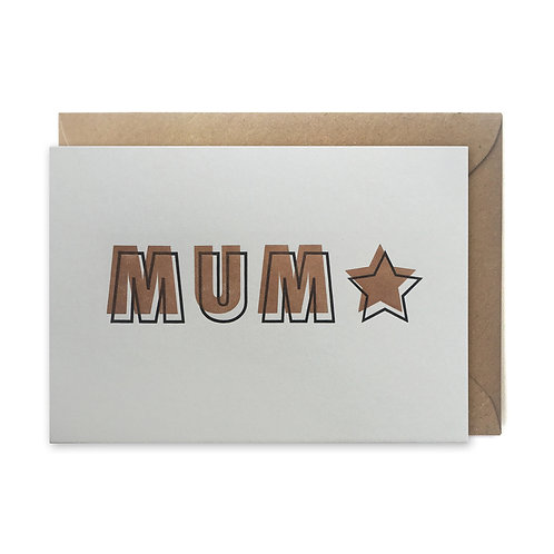 MUM star: Mother's day card